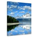 SALE Leinwandbild - Berglandschaft am Lake Jackson - Wyoming USA - 40x50 cm 001