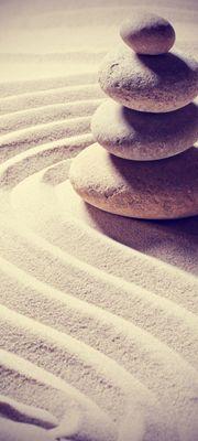 Türtapete selbstklebend Relaxing Vintage 90 x 200 cm  Ruhe Kraft Motiv Geist Seele Stein Sand Zen – Bild 1