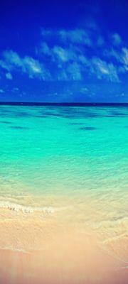 Türtapete selbstklebend Strand Vintage 90 x 200 cm   Sonne Meer Sand Ozean Paradies Bahamas Meerblick blau Urlaub – Bild 1