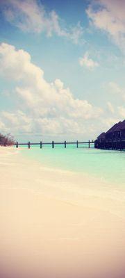 Türtapete selbstklebend Traumstrand Vintage 90 x 200 cm  Sonne Meer Strand Ozean Urlaub Reise Paradies – Bild 1