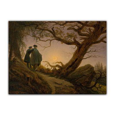 Caspar David Friedrich - Zwei Männer in Betrachtung des Mondes – Bild 7