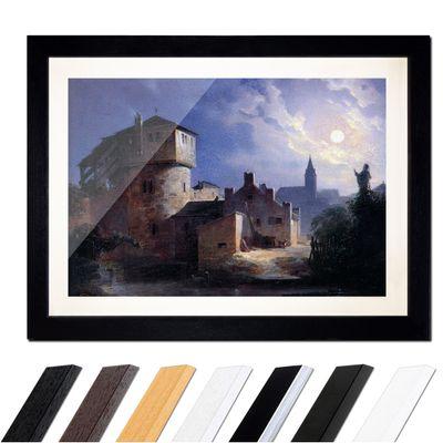 Carl Spitzweg - Mondschein über dem Dorf – Bild 1