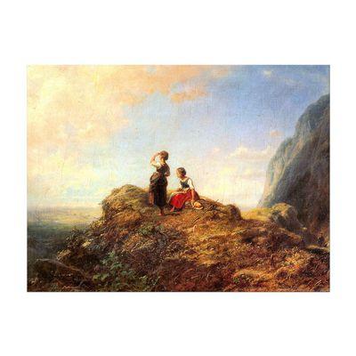 Carl Spitzweg - Zwei Mädchen auf der Alm – Bild 7