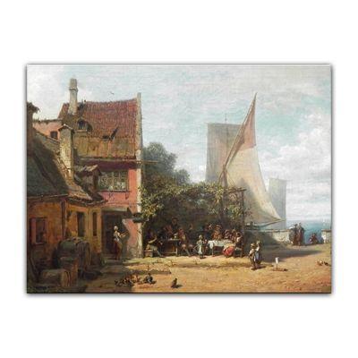 Carl Spitzweg - Alte Schänke am Starnberger See – Bild 7