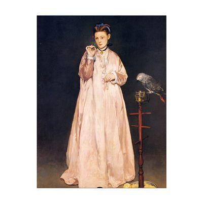 Édouard Manet - Junge Dame mit Papagei – Bild 7