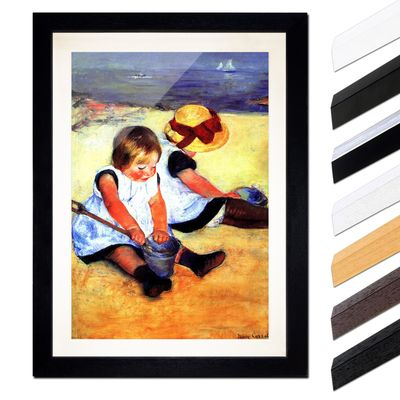 Mary Cassatt - Kinder am Strand – Bild 1