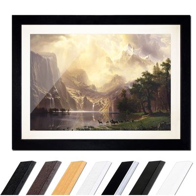 Albert Bierstadt - Among the Sierra Nevada Mountains – Bild 1