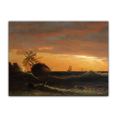 Albert Bierstadt - Beached Ship – Bild 7