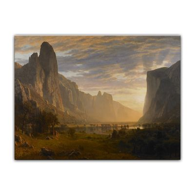 Albert Bierstadt - Looking Down Yosemite Valley, California – Bild 7