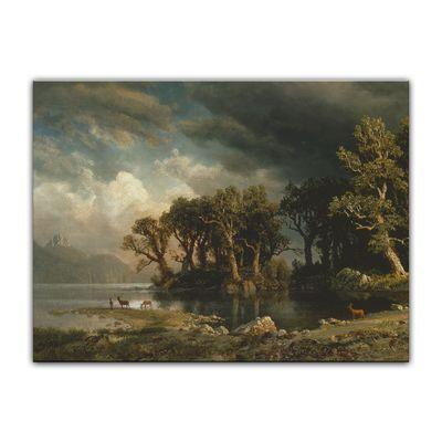 Albert Bierstadt - The coming storm - Der aufkommende Sturm – Bild 7