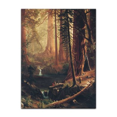 Albert Bierstadt - Giant Redwood Trees of California – Bild 7