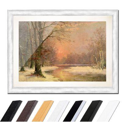 Adolf Kaufmann - Sonnenuntergang in Winterlandschaft – Bild 5