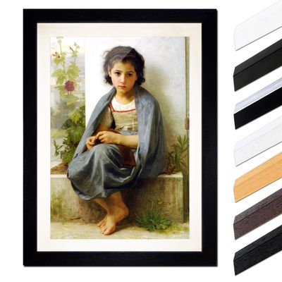 William-Adolphe Bouguereau - Die kleine Stickerin – Bild 1