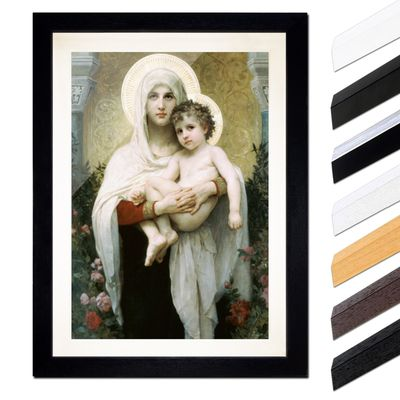 William-Adolphe Bouguereau - Madonna vor Rosen – Bild 1