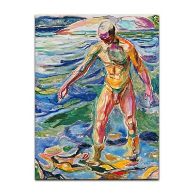 Edvard Munch - Bathing Man - Badender – Bild 7