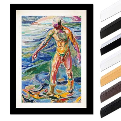 Edvard Munch - Bathing Man - Badender – Bild 3