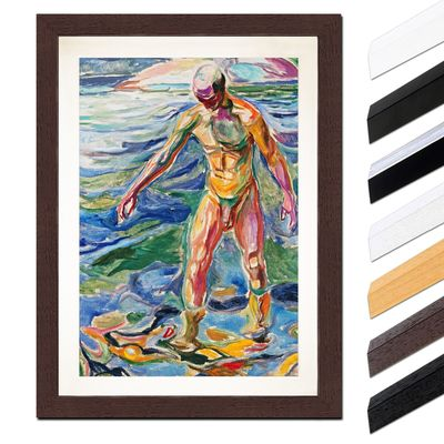 Edvard Munch - Bathing Man - Badender – Bild 4