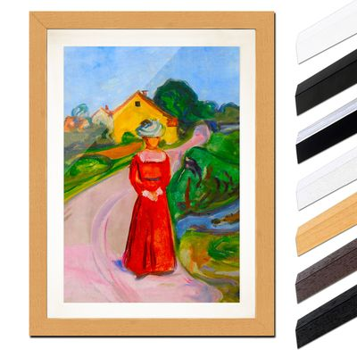 Edvard Munch - Frau in rotem Kleid – Bild 6