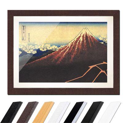 Katsushika Hokusai - Gewitter unterhalb des Gipfels – Bild 4