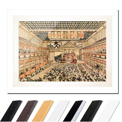 Katsushika Hokusai - Kabuki-Theater in Edo – Bild 2