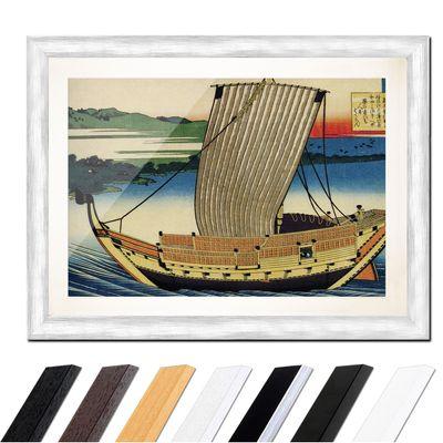 Katsushika Hokusai - Poem by Fujiwara no Toshiyuki Ason – Bild 5