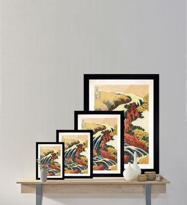 Katsushika Hokusai - Yoshitsune Umarai Wasserfall – Bild 10