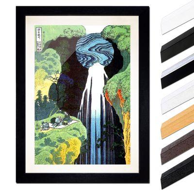 Katsushika Hokusai - Der Wasserfall von Amida an der Kiso Straße – Bild 1