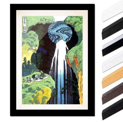 Katsushika Hokusai - Der Wasserfall von Amida an der Kiso Straße – Bild 3