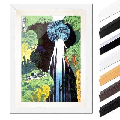 Katsushika Hokusai - Der Wasserfall von Amida an der Kiso Straße – Bild 8