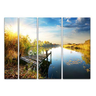 Leinwandbild - Herbst am See – Bild 7