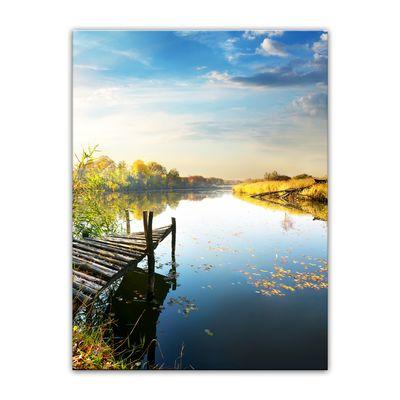 Leinwandbild - Herbst am See – Bild 12