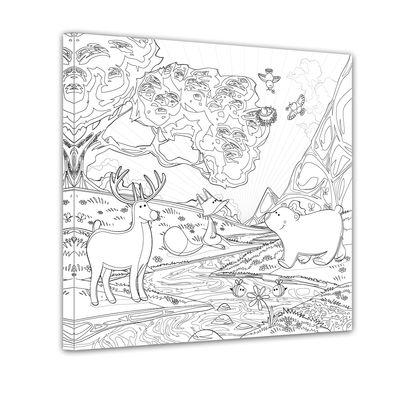 Waldtiere II - Ausmalbild – Bild 1