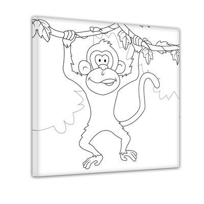 schwingender Affe - Ausmalbild – Bild 1