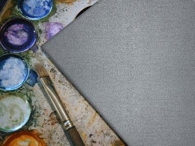 bemalbare Leinwand in silber - Quadrat – Bild 4