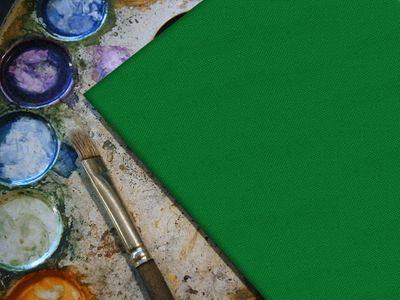 bemalbare Leinwand in grün - Quadrat – Bild 4