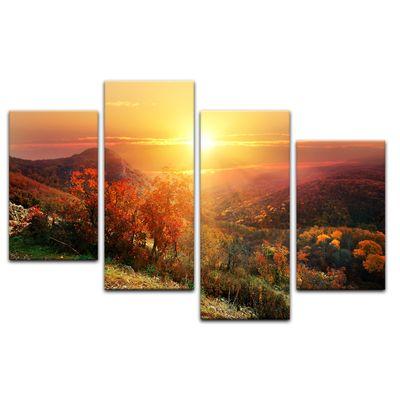 Leinwandbild - Sonnige Herbstlandschaft – Bild 2