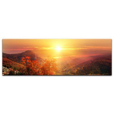 Leinwandbild - Sonnige Herbstlandschaft – Bild 7