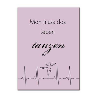 Leinwandbild - Spruch - Tanzen II - 50x60 cm – Bild 2