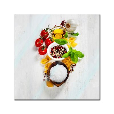 Glasbild - Italienische Pasta III 50x50 cm – Bild 1