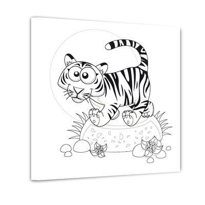 Tiger - Ausmalbild