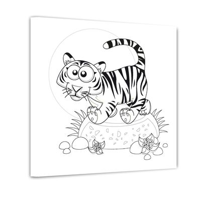 Tiger - Ausmalbild – Bild 1