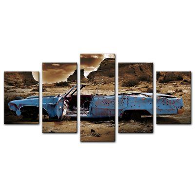 Leinwandbild - Cadillac - blau sepia – Bild 7