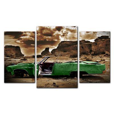 Leinwandbild - Cadillac - grün sepia – Bild 8