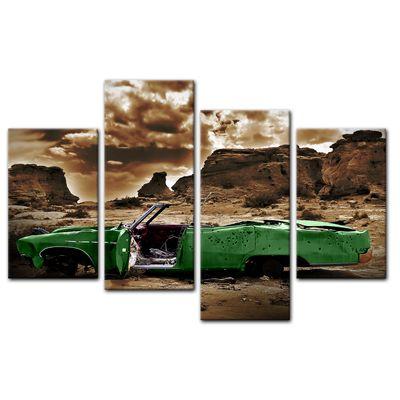 Leinwandbild - Cadillac - grün sepia – Bild 9