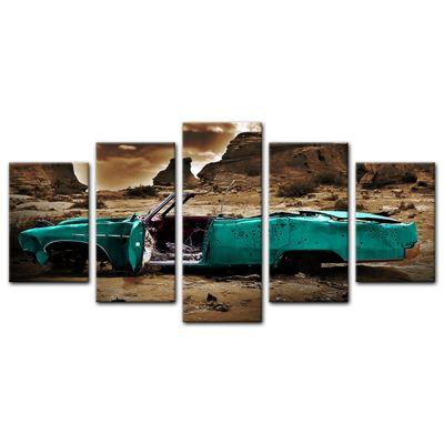 Leinwandbild - Cadillac - türkis sepia – Bild 7