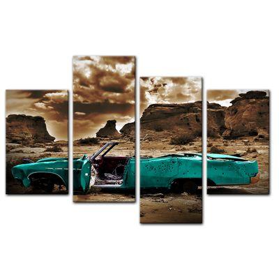 Leinwandbild - Cadillac - türkis sepia – Bild 9