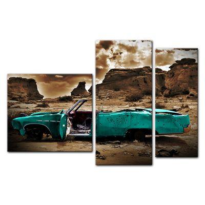 Leinwandbild - Cadillac - türkis sepia – Bild 10