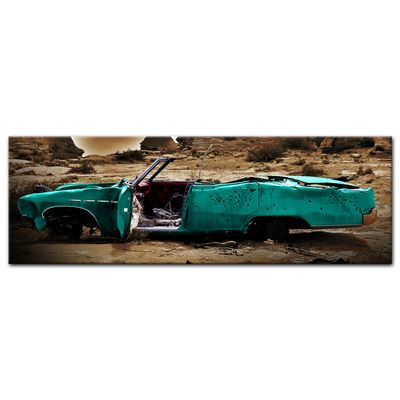 Leinwandbild - Cadillac - türkis sepia – Bild 3