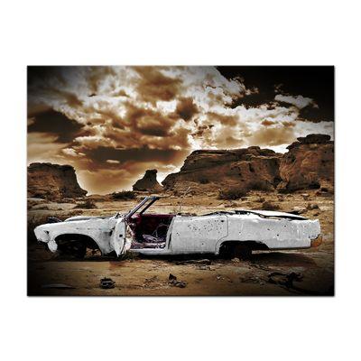 Leinwandbild - Cadillac - weiß sepia – Bild 2