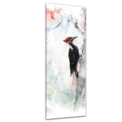 SALE Leinwandbild - Aquarell Specht 30x90 cm – Bild 1